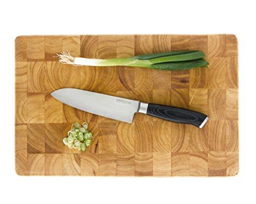 makami Premium Santokumesser aus japanischem Damaststahl VG-10 in Geschenkverpackung - HRC60 - Küchenmesser - 3
